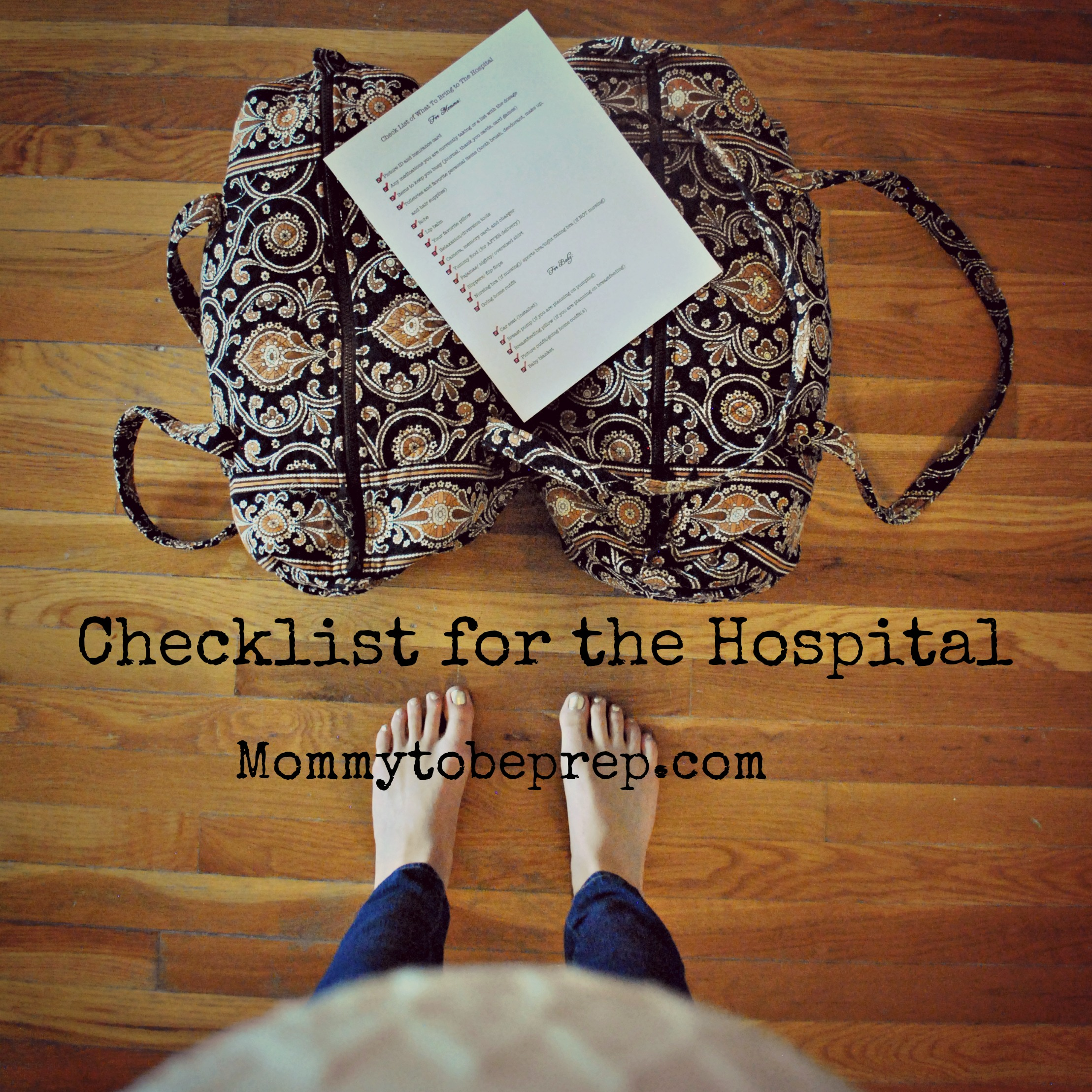 Check List of What to Bring to the Hospital
