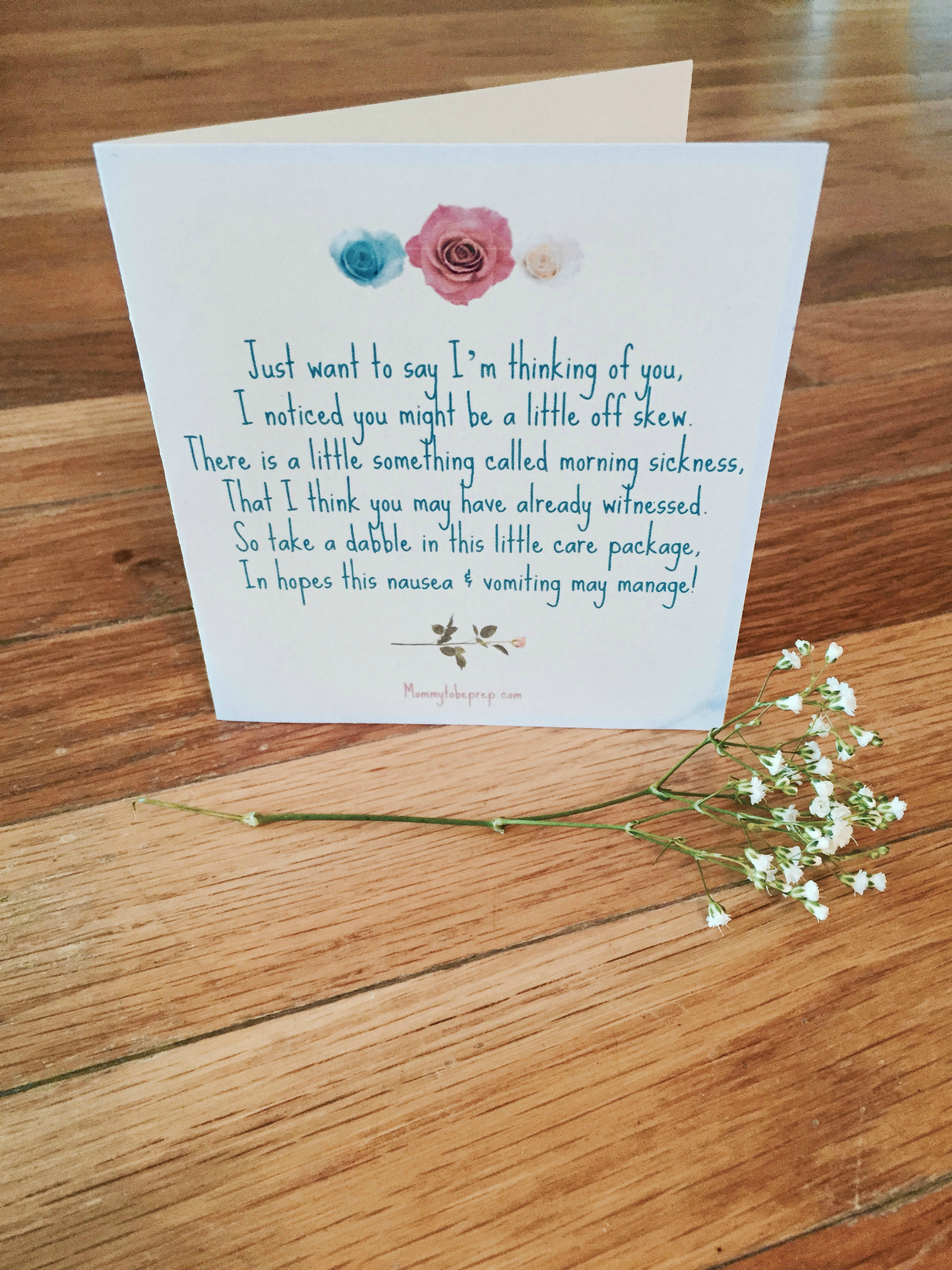 Free Card for Friend with Morning Sickness | Mommy To Be Prep